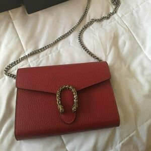 Gucci dionysus leather chain bag